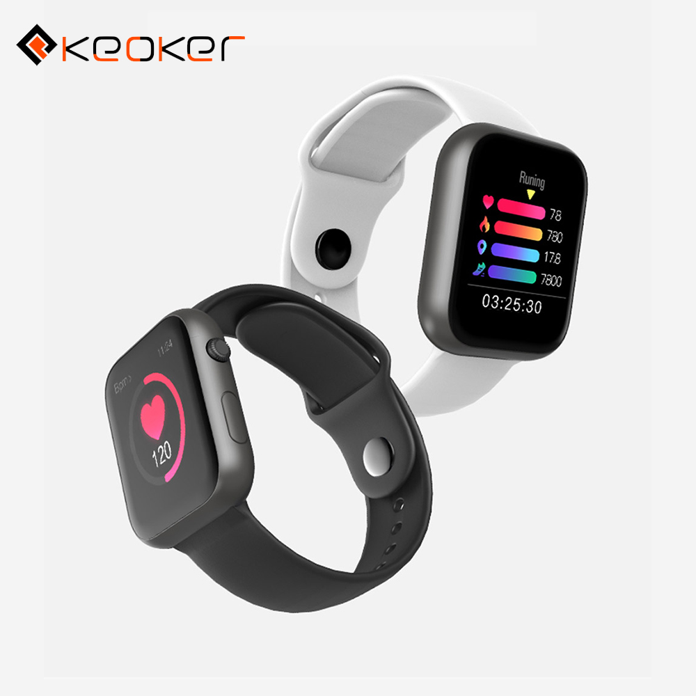 Keoker Waterproof Smartwatch Fitness-Tracker Heart-Rate Apple-Phone Blood-Pressure Android