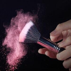 Image 2 - Jessup Juego de brochas de maquillaje profesional, base para sombra de ojos, lápices labiales en polvo, mezcla de pelo, herramienta cosmética de fibra, 7 27 Uds.