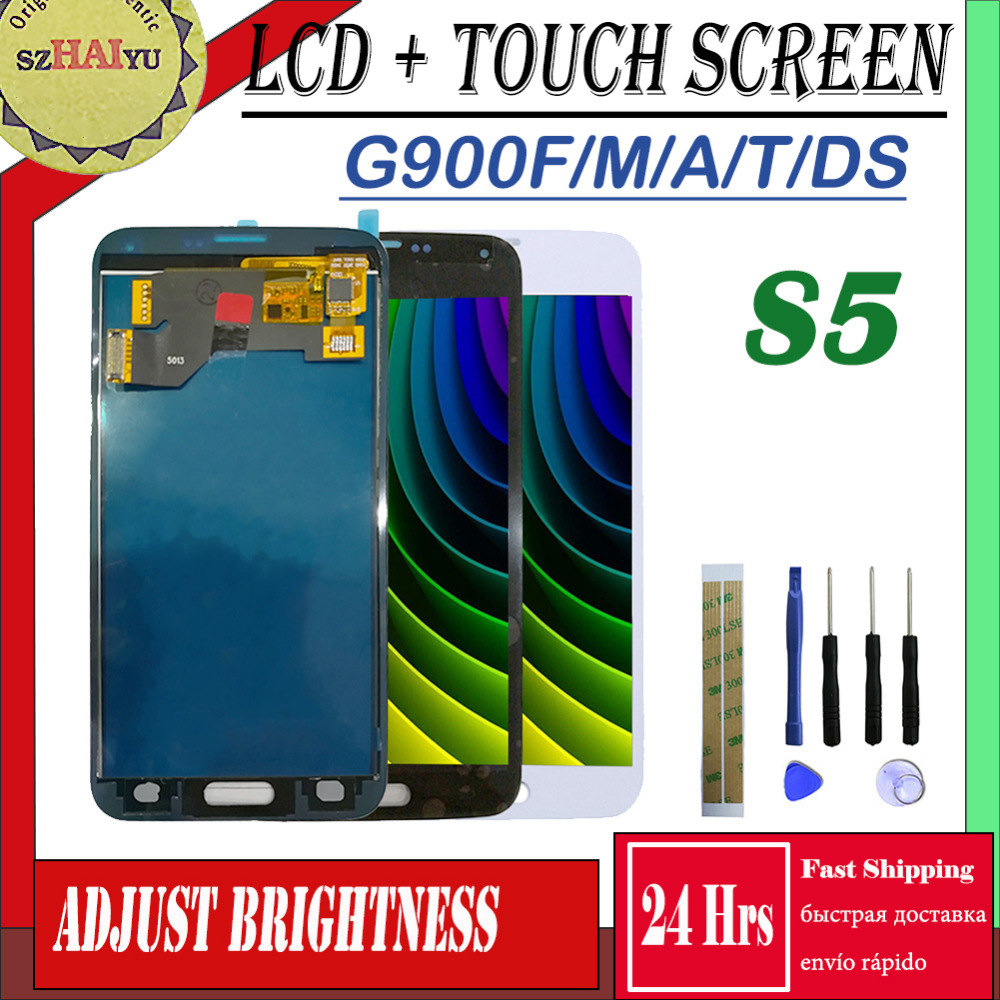 <font><b>SM</b></font>-G900F/A/M/T/V/DS For Samsung <font><b>Galaxy</b></font> <font><b>S5</b></font> LCD <font><b>Display</b></font> + Touch Screen GT-i9600 <font><b>G900</b></font> G900F G900M G900P Screen Adjust Brightness image