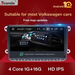 Автомагнитола 2 Din, Android 10, GPS-навигация для VW Passat B6 T5amarok volkswagen Skoda Octavia 2 seat leon 2 golf 4 5 6, мультимедиа