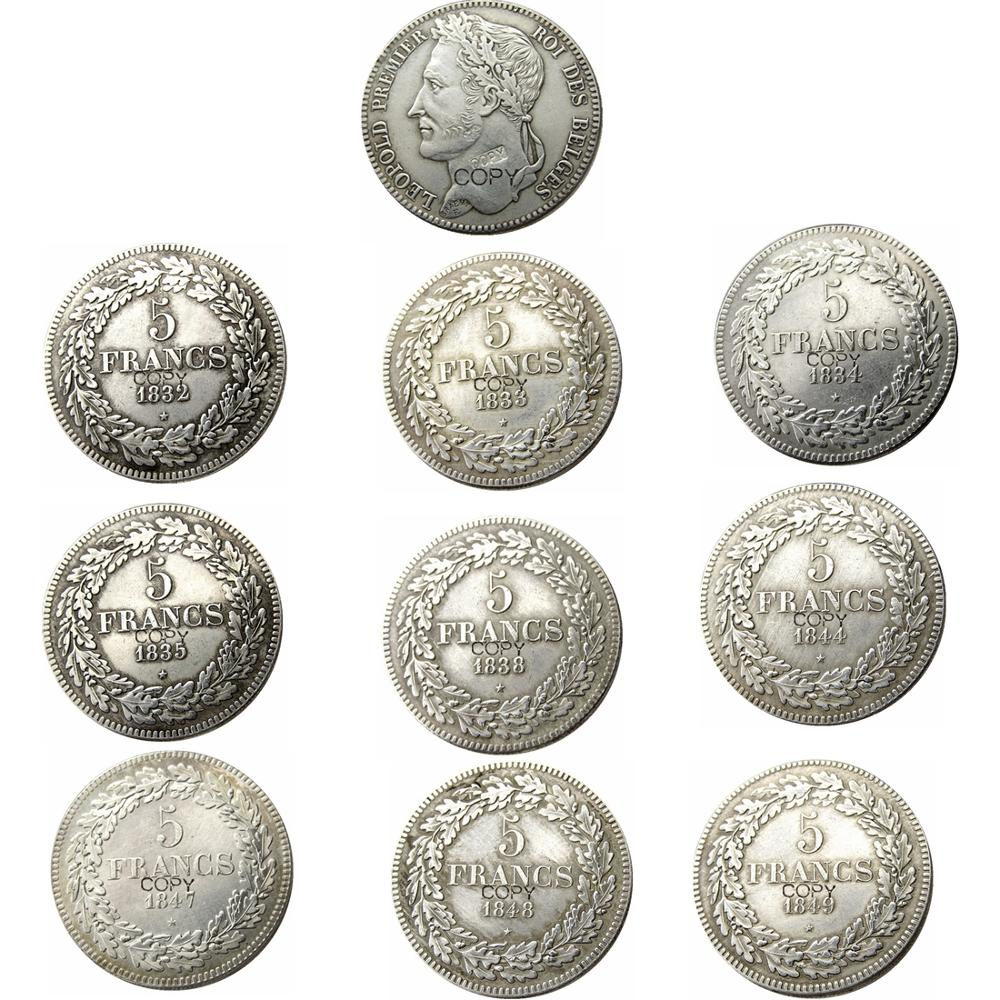 Belgium 5 Francs1832 - 1849 9 Years Optional leopold Premier Roi Des Belges Silver Plated Copy Coins image