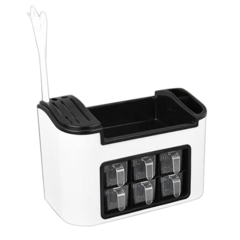 Multi-Function Kitchen Racks Seasoning Jar Storage Box Combination Knife Holder Set