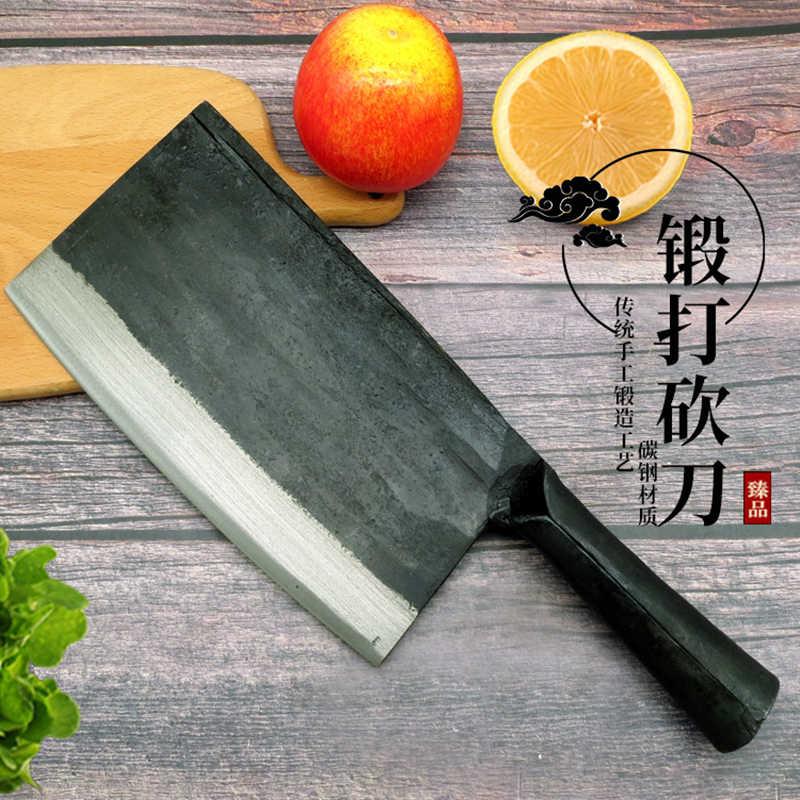 Shuoji faca de cozinha forjada, nova chegada, facas artesanais, cortador osso, lâmina de 1.8cm de espessura, faca de chef de cozinha super 750g durável