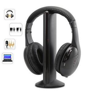 Headset Wireless Pc-Support Best-Selling RF for TV DVD 5-In-1
