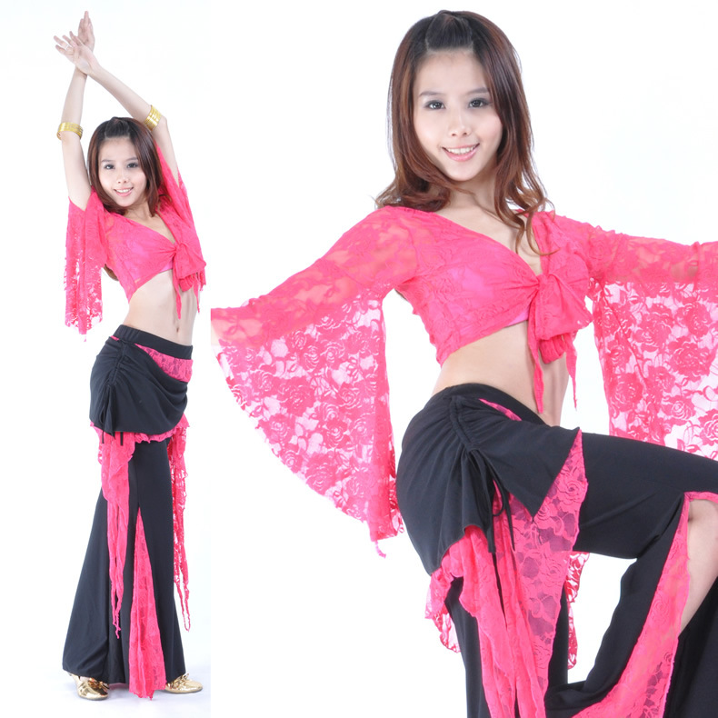 Hot Selling Sexy Belly Dance Practice Costume Wear For Women 2 Piece Belly Dancing Pants Set And Top On Sale