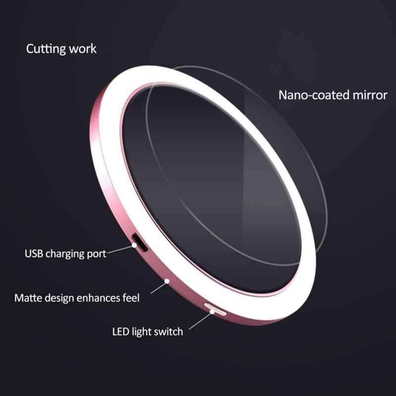 2 ב 1 משולב Qi מטען אלחוטי טעינה עבור iPhone 11 עבור סמסונג huawei מיני LED איפור מראה Dimmable מילוי מנורה
