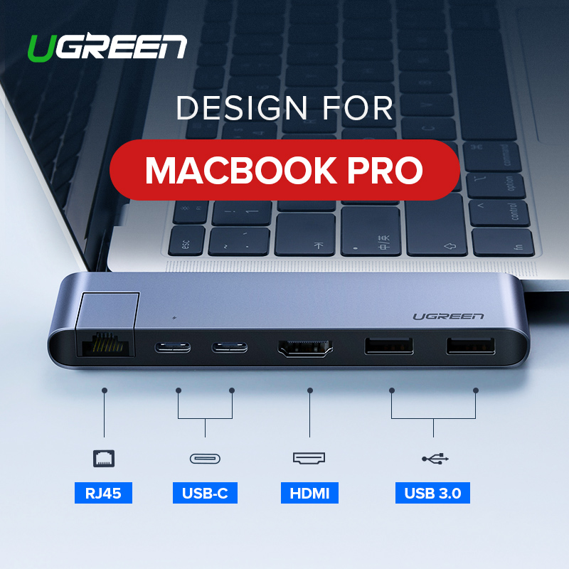 Ugreen USB C HUB double Type C à Multi USB 3.0 HDMI pour MacBook Pro adaptateur Thunderbolt 3 Dock USB-C 3.1 séparateur Port USB-C HUB