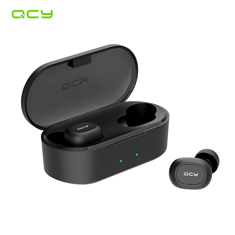 QCY QS2 TWS Mini Bluetooth V5 0  Earphones True Wireless Headphones 3D Stereo Sound Earbuds Dual Microphone Charging Box