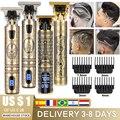 Электрическая машинка для стрижки волос для мужчин LCD 0 мм бритва триммер для мужчин Парикмахерская профессиональная борода перезаряжаемая...