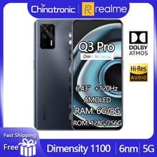 Nowy telefon komórkowy realme Q3 Pro 5G 8GB 128GB Dimensity 1100 Octa Core 6.43