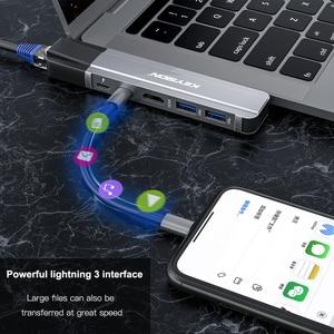 Image 4 - مفتاح USB HUB C HUB إلى متعدد USB 3.0 HDMI محول USB الفاصل لماك بوك برو حوض الصاعقة 3 HUB RJ45 المزدوج USB نوع C HUB