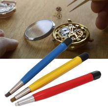 3 teile/satz Rost Entfernung Pinsel Stift Fiberglas Messing Stahl Scratch Pinsel Sauber Stift Uhr Teile Polieren Tool Uhr Teile Zubehör