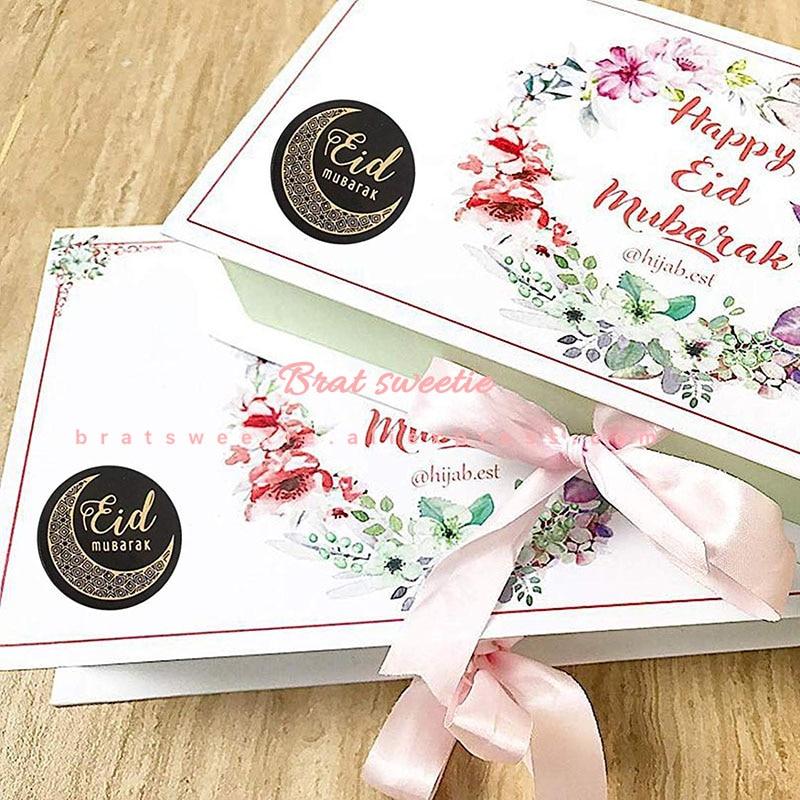 Image 2 - 100PCS Ramadan Eid Mubarak Gift Stickers Party Supplies  Decorations for Eid Al Fitr
