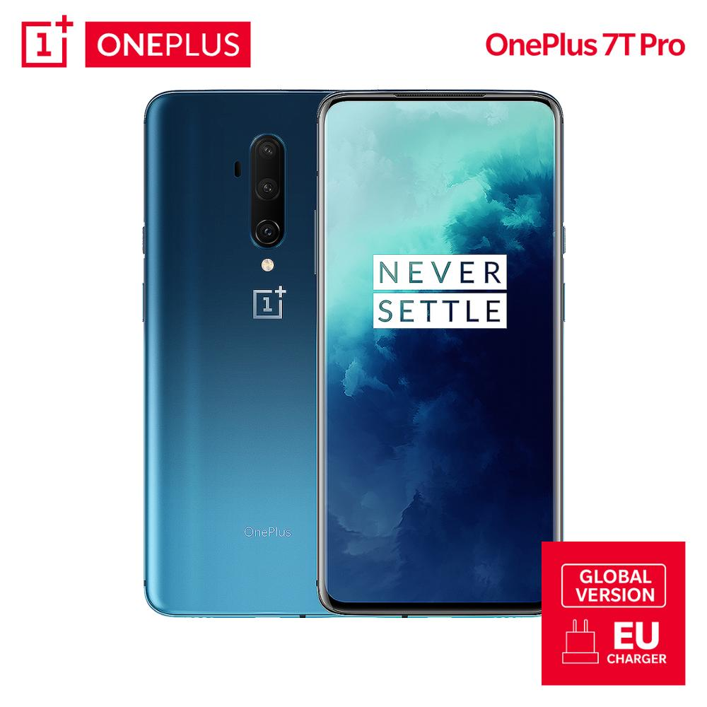Global Version OnePlus 7T Pro 8GB 256GB Snapdragon 855 Plus Smartphone 90Hz Display AMOLED 6.67 Inch 48 MP 4085mAh UFS 3.0 NFC