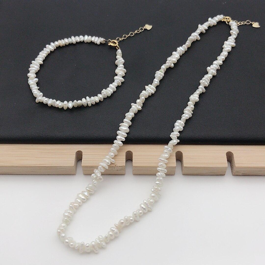 """Nouveau 12-13 mm Naturel riz blanc 2 ligne d/'eau douce culturred Pearl Bracelet 7.5/"""""""
