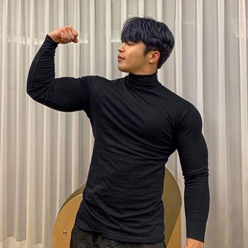 Running T Shirt mężczyźni kompresja Fitness dopasowana długa rękaw Sport Tshirt trening Jogging koszule odzież sportowa szybkoschnąca odzież sportowa tanie i dobre opinie FITNESS SHARK CN (pochodzenie) Winter Wiosna AUTUMN Poliester Pasuje prawda na wymiar weź swój normalny rozmiar youth