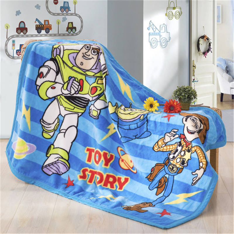 Cute Buzz Lightyear Raschel Blanket