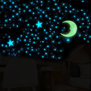 Image 2 - 100 Pcs 3cm Luminous Stars Wall Stickers Glow In The Dark Stars For Kids Baby Room Living Room DIY Wall Art Home Decor Stickers