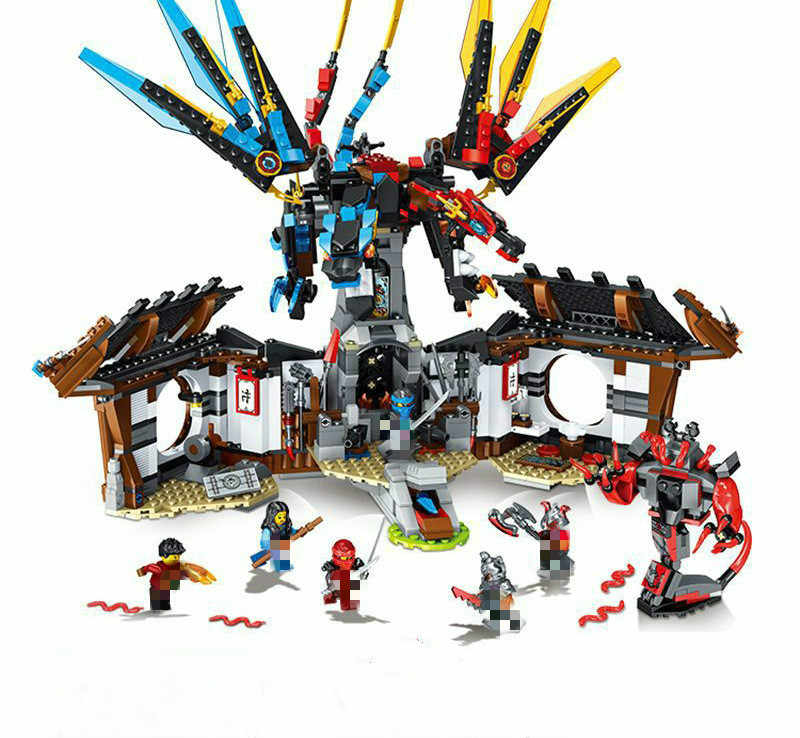 In Magazzino 31022 1157pcs Ninja Drago delle Forge 4 Figure 70627 Mattoni Building Block Toy Compatibile Lepining Ninjagos
