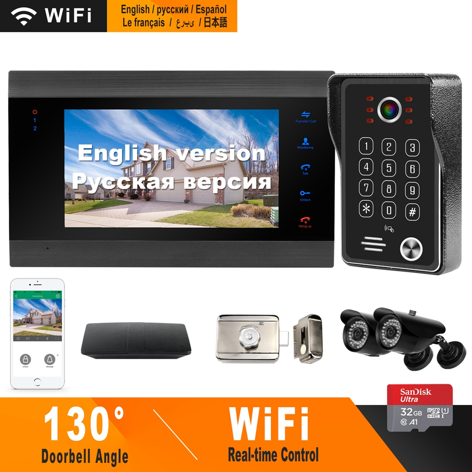 HomeFong Wifi Door Intercom Wireless Video Intercom with Electronic Lock CCTV Camera Home Access Control System Control by Phone-in Video Intercom from Security & Protection