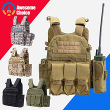 6094 Tactical Vest Molle 900D Nylon Body armor Hunting plate Carrier Airsoft 094K M4 Pouch Combat Gear Multicam(China)