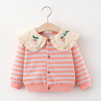 Menoea Baby Girls Sweater Coat 2020 Winter for Girls Coat Kids Warm Thick Baby Striped Clothing Toddler Cotton Children Clothes 2018 new style toddler baby girls winter down coat infants kids cotton jacket outwear kids clothes children clothing 10 12 years