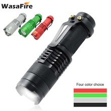 Portable Mini XPE Q5 LED Flashlight 2000LM Zoomable Linterna Lamp Waterproof 3 Modes Black/Red/Silver/Green Torch for Camping uniquefire flashlight uf 1502 zoom 3 modes xre green red white led light t38 lamp torch for camping