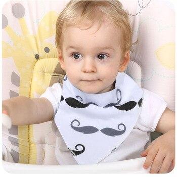 1Pcs Unisex Baby Bandana Drool Bibs Adjustable Snaps Bibs For Drooling&Teething 100% Cotton Newborn Bibs Useful Baby Accessories 1
