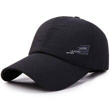2021 New Baseball Cap Quick Drying Hats Men Women Summer Unisex Breathable Sport Pure Color Snapback Hat Bone Baseball Hat