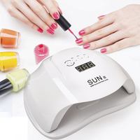 SUNX UV LED Nail Dryer 54W smart timing Gel Polish Curing Lamp with LCD Display Quick Dry Lamp For Nails Manicure Art Tools