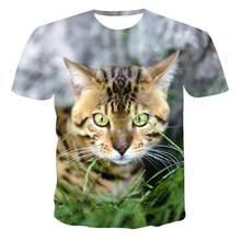 2020 nova venda quente verão topo 3d impresso gato série manga curta t-camisa vendas diretas da fábrica