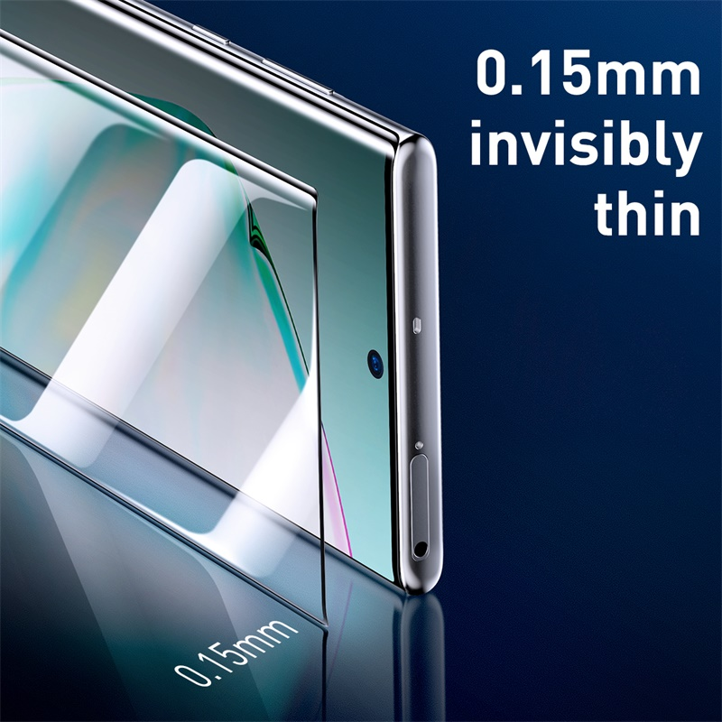Image 2 - Baseus 2pcs 0.15mm Full Screen Protector Film for Samsung Galaxy Note 10 Note 10 Plus Protective Film for Note 10 Plus Glass-in Phone Screen Protectors from Cellphones & Telecommunications on