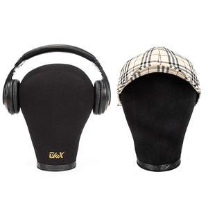 """Image 3 - GEX czarna korkowa główka bloku manekin głowa z peruką wyświetlacz głowica stylizująca z otworem montażowym 20 """" 24"""""""