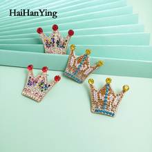 Exaggerated Unique Gold Crown Ladies Earrings Oversized Opal Bohemian Party Jewelry Personality Statement