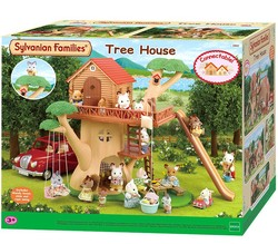 Sylvanian Families Toy Sylvanian Families Happy Tree Cabin GIRL'S Play House Doll Toy House 4618