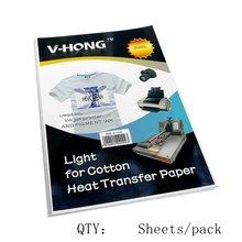 5 шт v hong ткань хлопок струйный Бумага сублимационная футболка