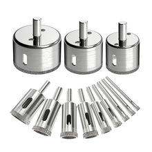 Saw-Bits-Set Remover-Hole-Saws Glass-Ceramics Diamond Ac for 12pcs Tile-Hole Hollow-Core