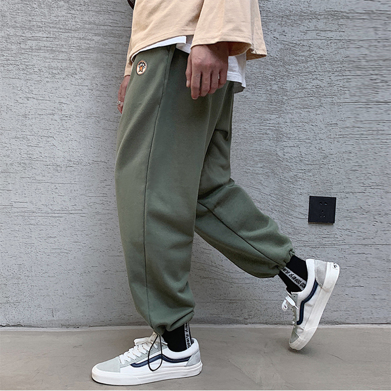 2019 Plus Size M-5XL Men High Street Pant Elastic Fat Casual Straight Pants Streetwear Sports Trousers Harajuku Male Jogger