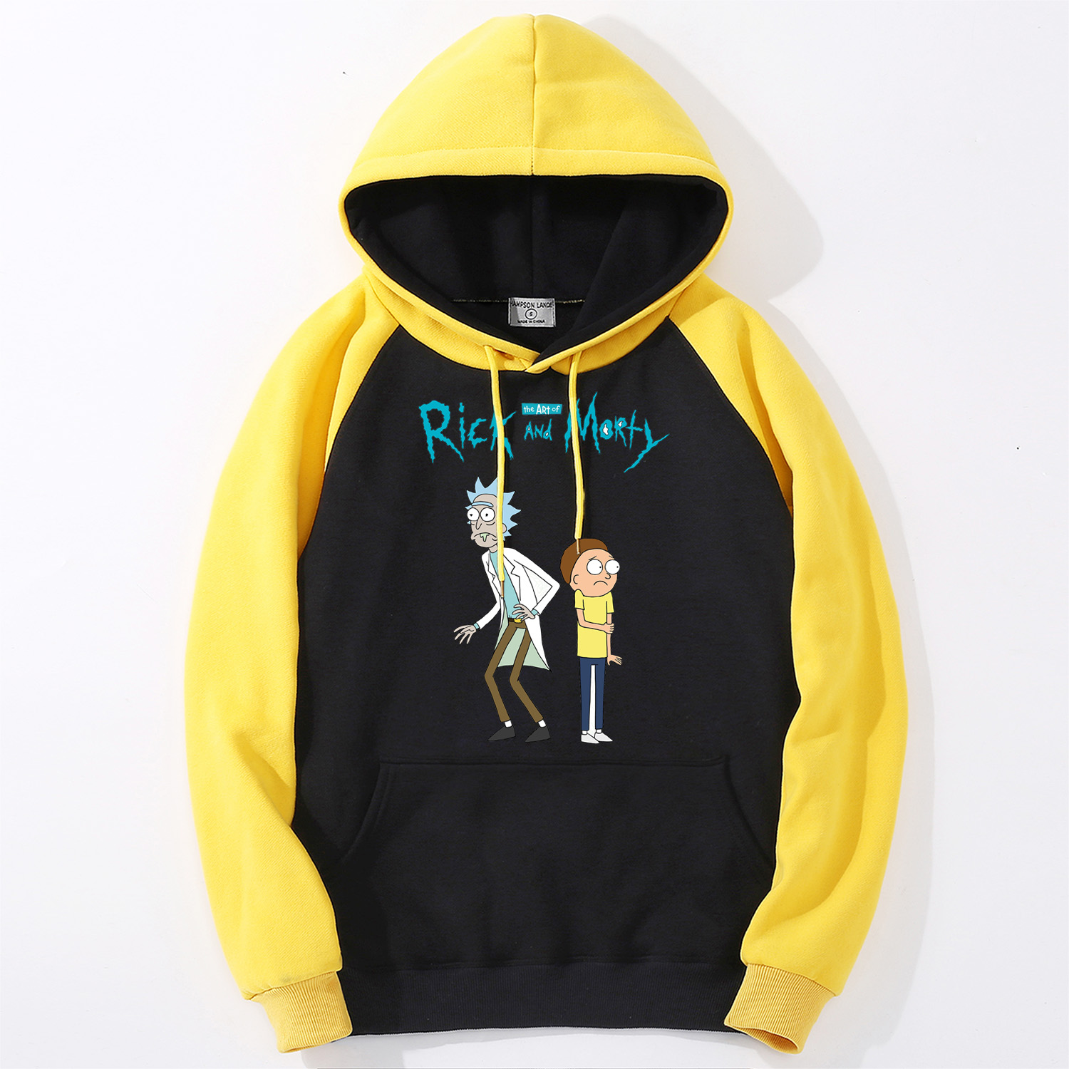 Rick And Morty Cartoon Male Hoodies 2019 High Quality Print Mens Raglan Pullover Casual Hipster Sweatshirts Men Streetwear Tops
