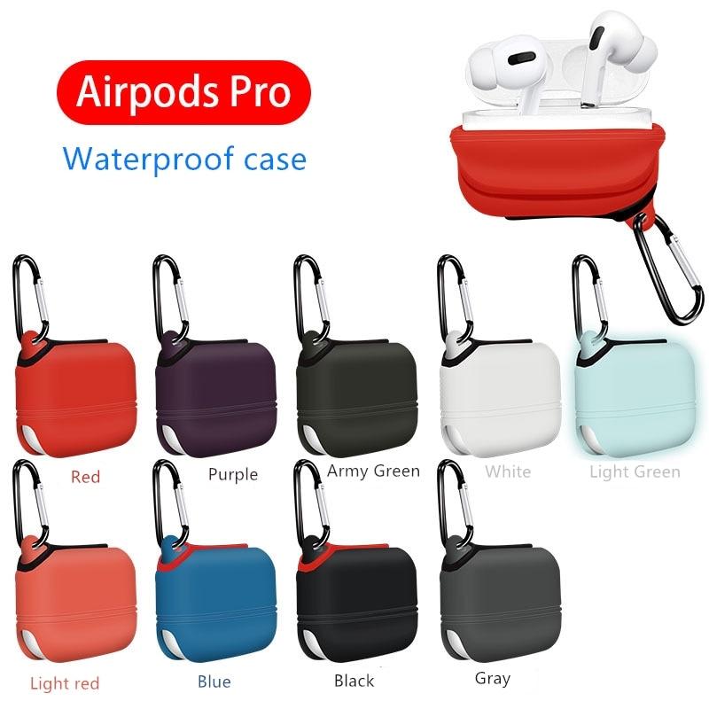 Suitable For Airpods Pro Protective Case Waterproof Case All-inclusive Waterproof Protective  Airpod Case Headphones Case Box