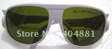 IPL safety glasses/goggles/eyewear 200-2000nm, CE certified, O.D 4+  good V.L.T% white frame