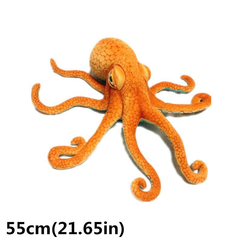 Giant Realistic Stuffed Marine Animals Soft Plush Toy Octopus Orange