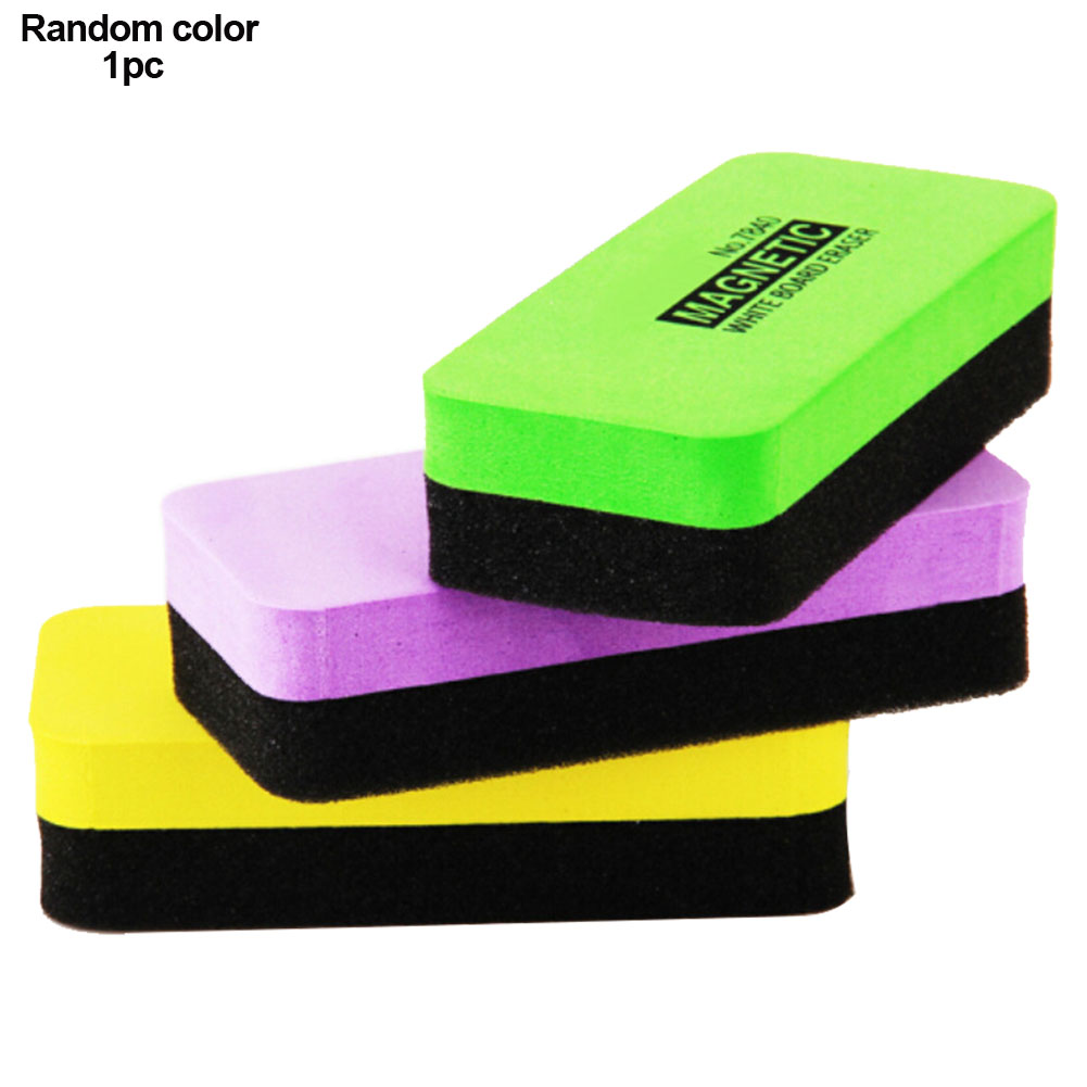 Dry Board Rubber Wipe Clean Blackboard Eraser Whiteboard Painting Cleaning Tool Marker With Magnetic School Supply Random Color