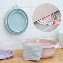 Multi-functional Collapsible Camping Wash Basin Foot Wash Basin Silicone Washbasin Folding Bucket Bathroom Accessories