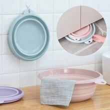 2019 Multi-funcional plegable Camping lavado lavabo para el pie lavabo de silicona lavabo cubo plegable accesorios de baño
