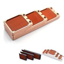 Холодный мир 120 мм 240 мм 360 мм медный тонкий радиатор водяного охлаждения теплообменник толщиной 24 мм для вентилятора 12 см