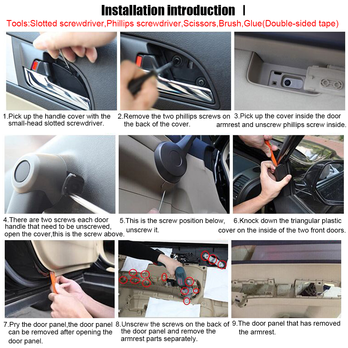 Pair Car Leather Front Door Panels Armrest Cover For Honda CRV 2007 2008 2009 2010 2011 2012 Black/Beige/Grey-5