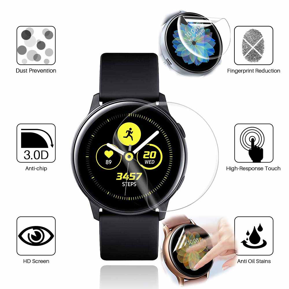 3PC 5PC Full Clear TPU Protective HD Film For Samsung Galaxy Watch Active 1 2 44mm 40mm Watch Screen Protector  Soft Ultra-thin