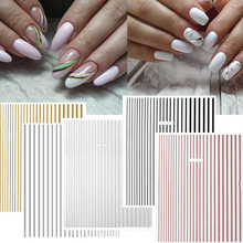DIY Line-1 3D Nail Sticker Self-adhesive DIY Sticker Decals Tips Manicure Nail Art Decals Nail Stickers Manicure DIY Art Sticker цена в Москве и Питере
