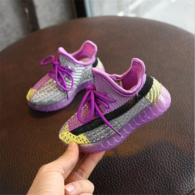 2020 new purple spring kids shoes unisex toddler girls boys sneakers mesh breathable fashion casual children shoes size 21-30